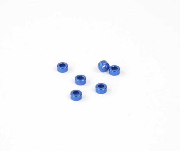 3x6mm Distanzstück - Blau (6Stk.)
