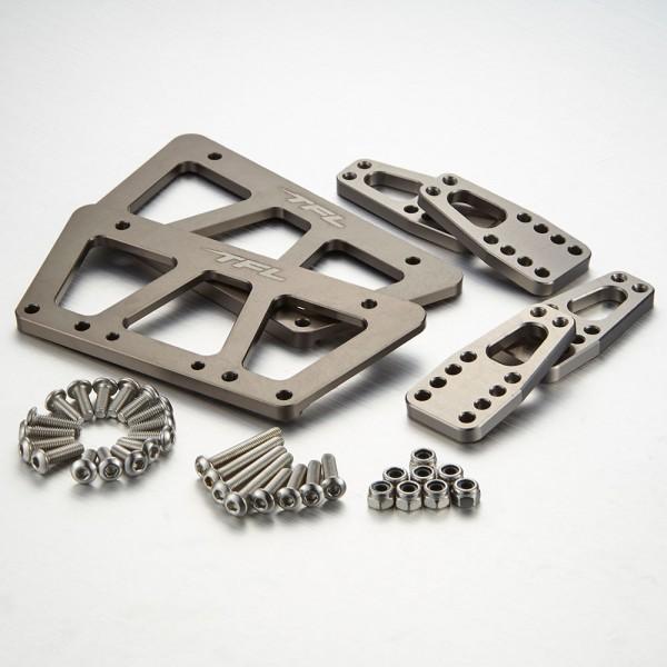Seitenhalteplatten & Stoßdämpferhalter für Axial SCX10 Grau