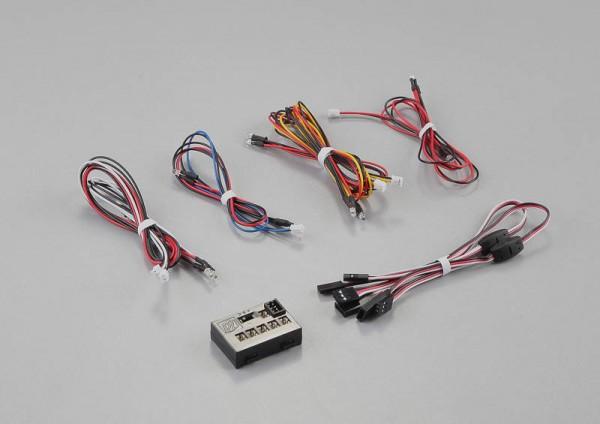 LED Licht Set mit 12x3mm LED inkl Kontroller Box