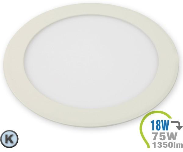 LED Paneel Einbauleuchte Premium Serie 18W Rund Kaltweiß