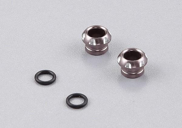 LED Halter Aluminium Grau für 5mm LED