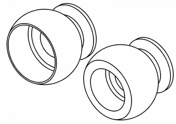Kugelköpfe Servo Gestänge Lenkung (2x3 & 2x4 )