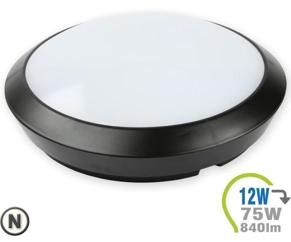 LED Aufbauleuchte Dome 12W mit integr. Bewegungsmelder Neutr