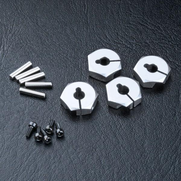 Radmitnehmer Alu 4mm silber (4 Stück)