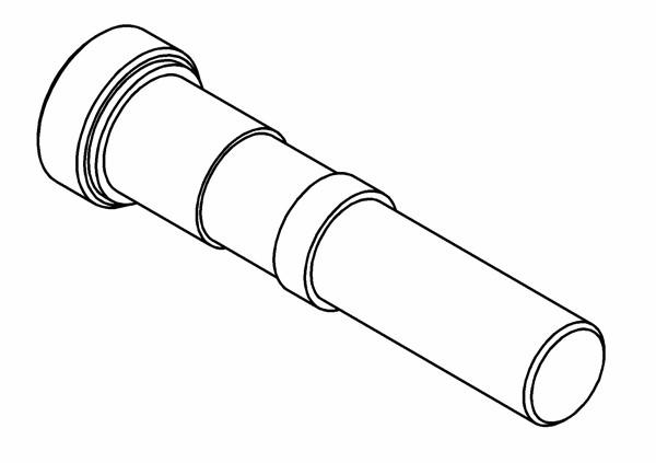 Befestigungsstifte für Aluschwingen / Caster Block