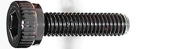 M3x12mm Zylinderkopfschraube schwarz (4)