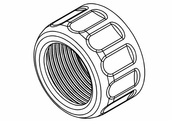 Obere Verschlusskappe für Plastikdämpfer