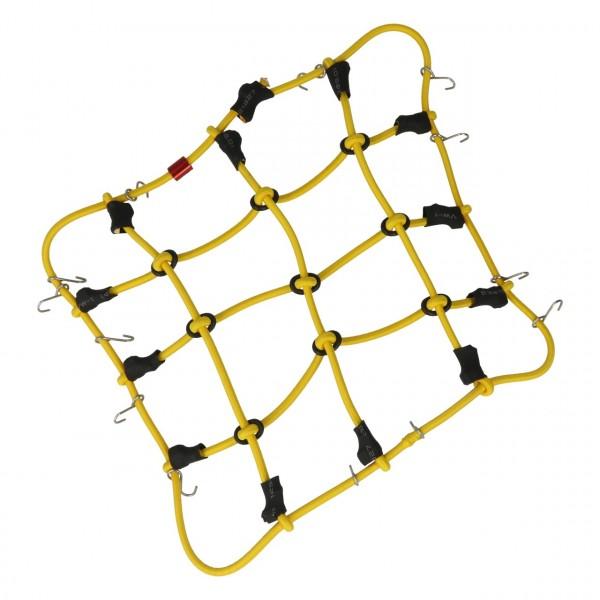 Gepäcknetz mit Haken Gelb (120mm x 80mm)