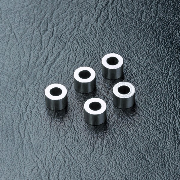 Distanzbuchse Alu 3x5.5x4.0mm silber