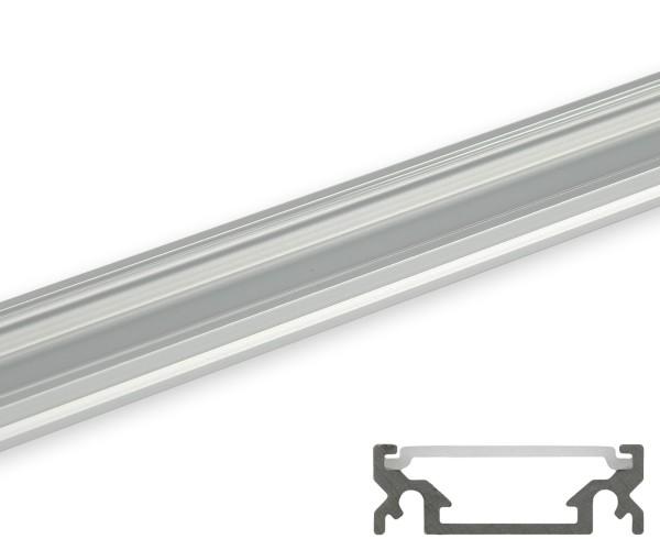 Aluminum Profil breit flache Abdeckung transparent