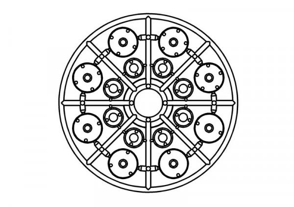 Kolbenplatten Set für Stoßdämpfer 2x 2-3-4-5 Löcher