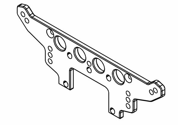 Stoßdämpferbrücke XS5 FT Hinten