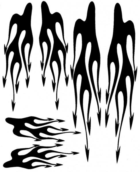 Airbrush Maske Tail Flames
