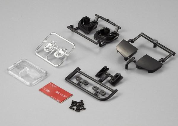 Einbauscheinwerfer für Motorhaube Ein- und Ausfahrbar