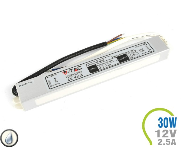 LED Netzteil 30W 12V 2.5A Metall IP65