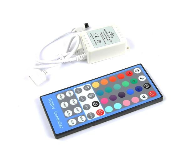 LED RGBW Controller 4x2A mit Infrarot Fernbedienung 40 Taste