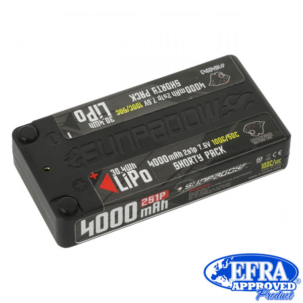 LiPo Akku HV 4000mAh 100C/50C 2s Competition Shorty 4mm Buch