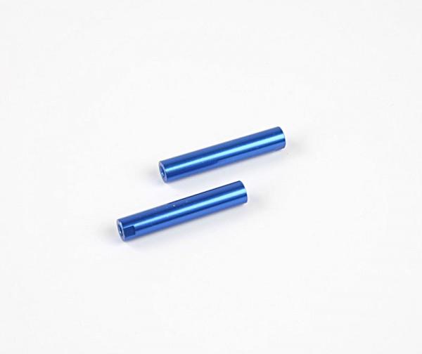 Alu Rohr mit Gewinde 6x33mm - Blau (2Stk.)