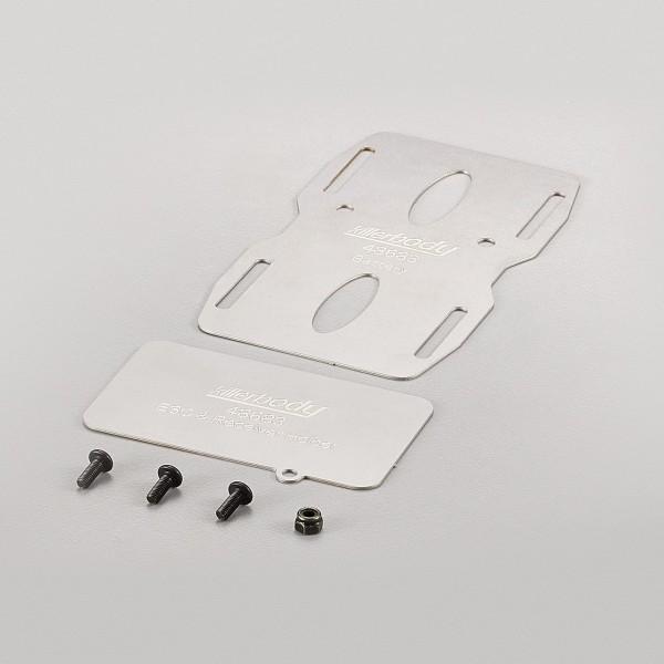 Halterung mittig für Akku/ESC/RX Edelstahl für Toyota LC70