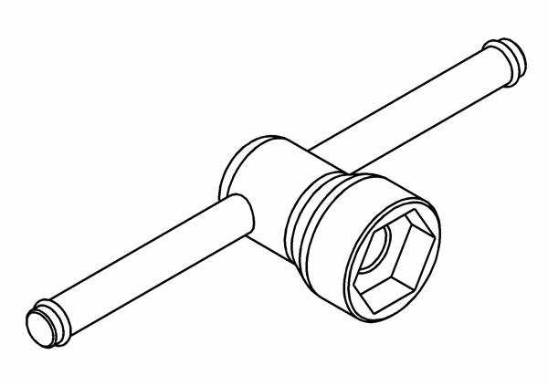 Radmutternschlüssel Alu 24mm