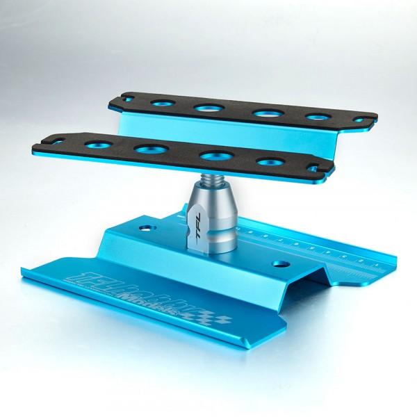 Auto Montagestand 1/10 drehbar blau eloxiert