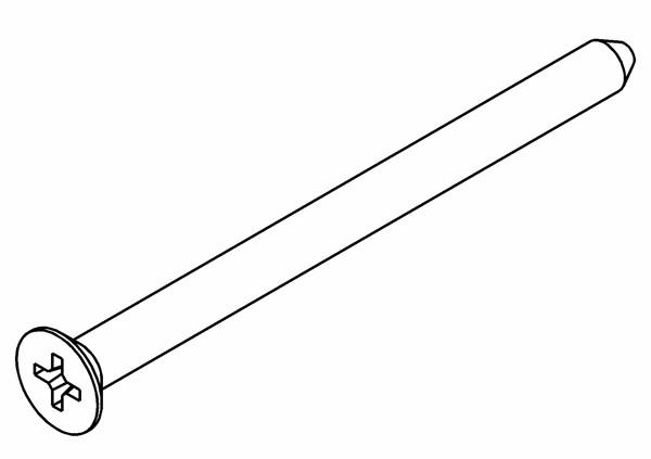 Senkkopf PZ2 Schneidschraube 5x70 mm