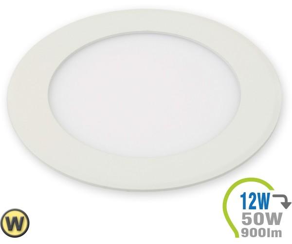 LED Paneel Einbauleuchte Premium Serie 12W Rund Warmweiß
