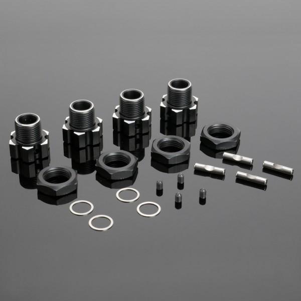 Radmitnehmer Set 17mm Aluminium (2 Sets inl Muttern und Pin)