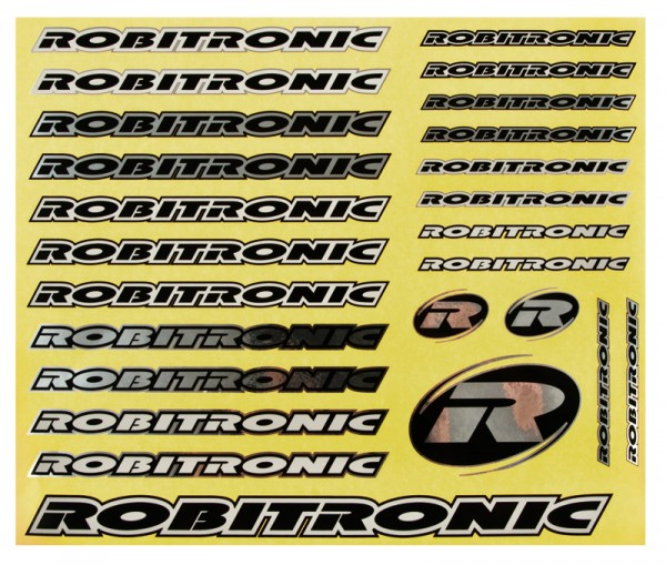 Robitronic Sticker-Set Chrome