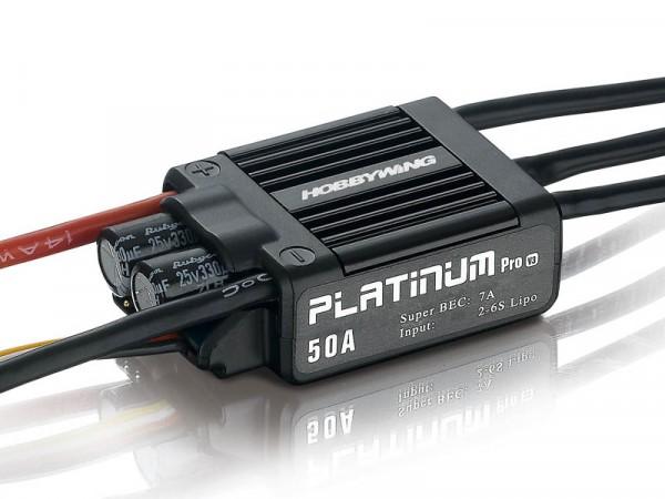 Platinum Pro 50 Regler V3 2-6s, 7A BEC