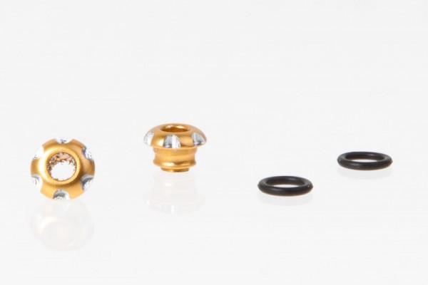 LED Halter Aluminium Gold für 3mm LED