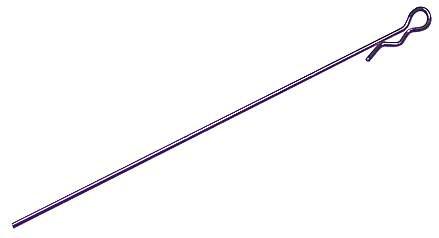 Karosserieclips Metallic Purple Extra-Lang (5 Stk.)