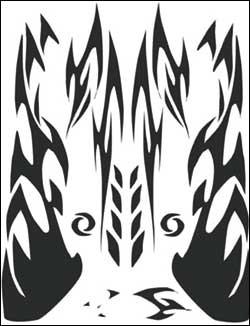 Airbrush Maske Aztek