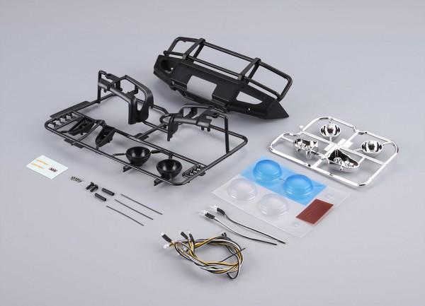 Rammschutz mit LED Scheinwerfer Alu schwarz für Traxxas TRX-