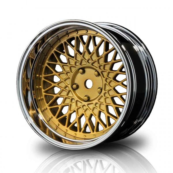 Drift Felge 501 gold/silber Offset 4-fach verst. (4 Stück)