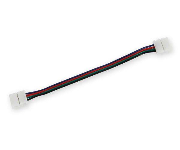 LED Stripe Verbinder gerade mit Kabel 5050 RGB (10mm)