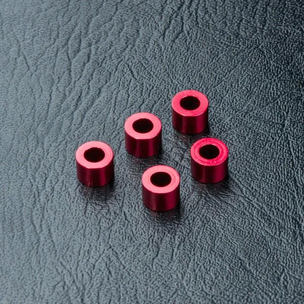 Distanzbuchse Alu 3x5.5x4.0mm rot
