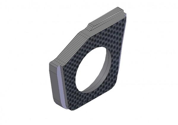 4mm Vordere Riemenspannungs Hub Halter Karbon links