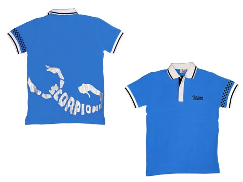 Scorpion Polo Shirt (Blue-L)