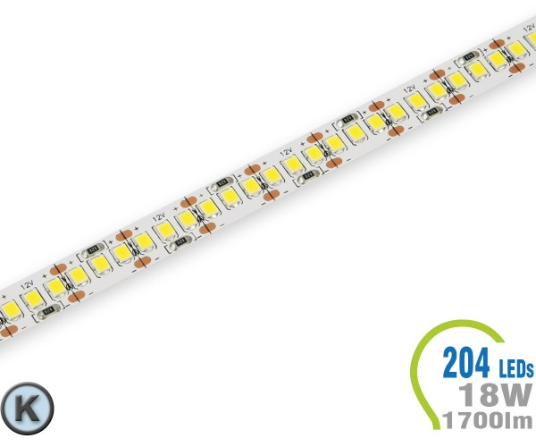 LED Stripe 204 LED/m 1700 lm/m  Kaltweiß