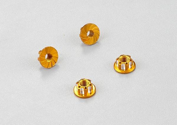 Radmuttern Aluminium Gold (4 Stk)